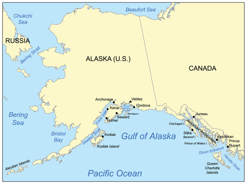 Gulf of alaska sea sea in pacific ocean the entire seashore of the gulf is an uneven combination of forest mountain and a number of tidewater glaciersalaskas largest glaciers the malaspina sciox Images