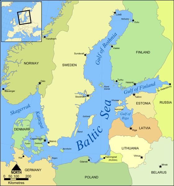 Gulf Of Finland A Sea In Atlantic Ocean - World map oceans seas gulfs