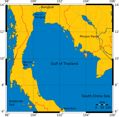 Gulf of Thailand - Sea in Pacific ocean