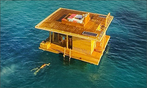 In Africa It Is The First Underwater Hotel Room Above Water Two Additional Floors Provide An Ethereal Ambience Including A Patio Perfect For