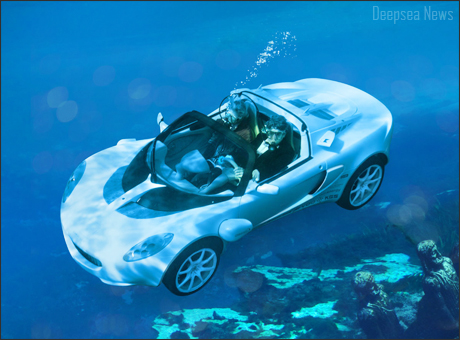 Diving Car Deep Sea Waters News Underwater Animals